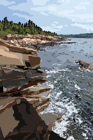 Ocean Path - Acadia National Park