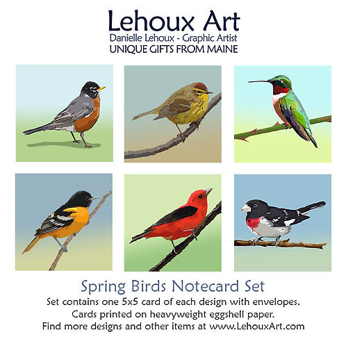 Spring Birds - Note Card Set