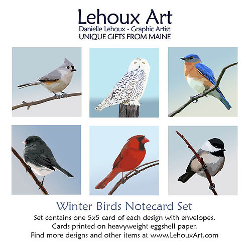 Winter Birds - Note Card Set