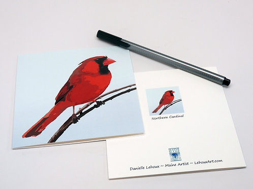 Northern Cardinal - Blank Note Cards