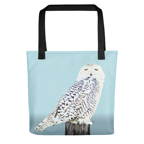 Snowy Owl - Bird Art - Tote Bag