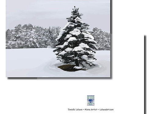 First Snow - Maine Note Cards