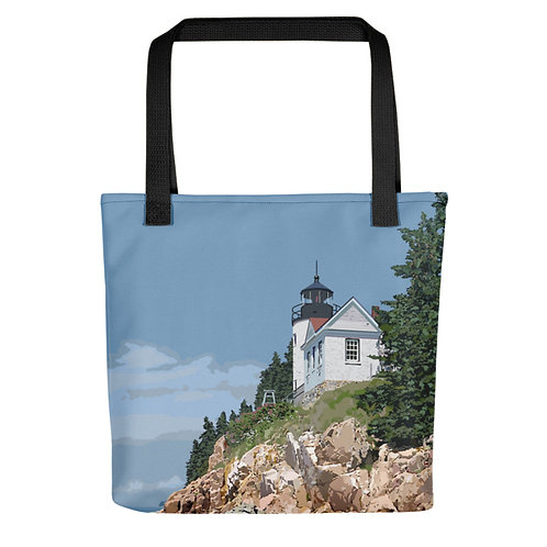 Bass Harbor Head Light - Maine Lighthouse Tote Bag