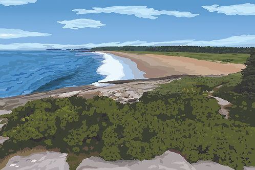Reid State Park - Maine Graphic Art Print