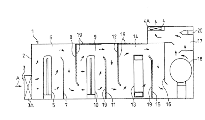 Process and apparatus for purification of oxygen-containing gas