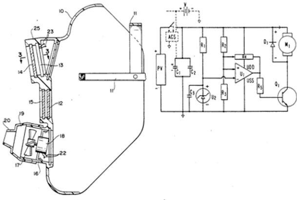 Welder's helmet and photovoltaic power transmission circuit therefor