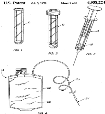 Process for detecting accidental contact with body fluids