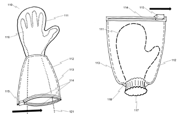 Safety applicator glove system and method
