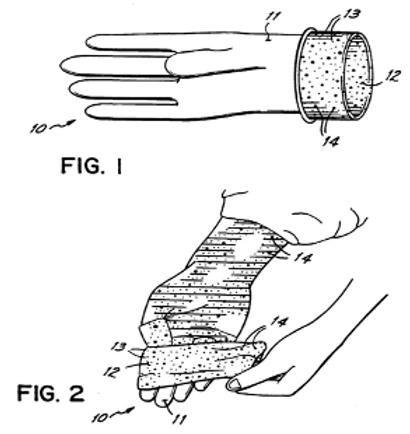 GLOVE WITH HAND-COLORING MATERIAL