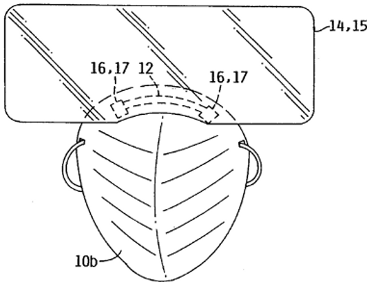 Detachable/disposable face shield for surgical mask