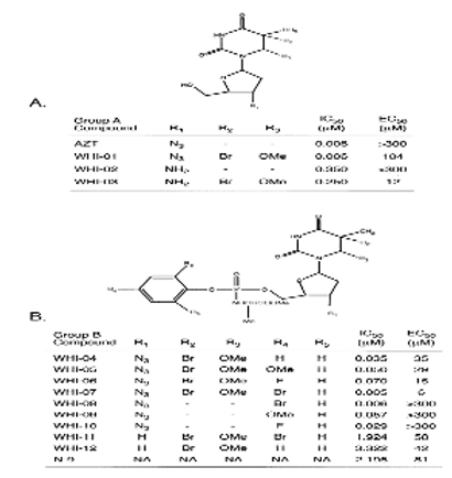 AZT derivatives exhibiting spermicidal and anti-viral activity