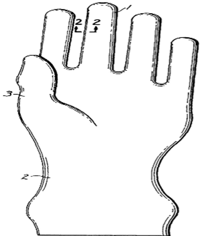 Surgeon's glove and talc free process for forming same