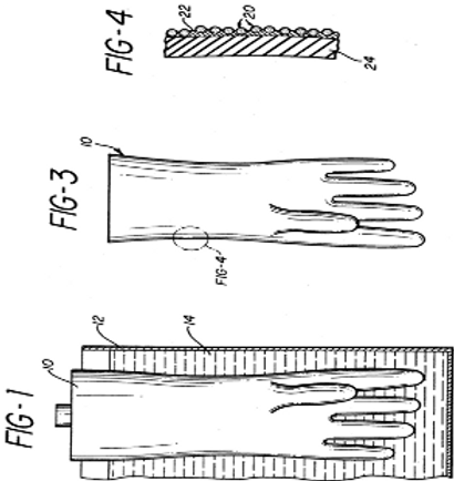 Process for forming powder-free medical gloves