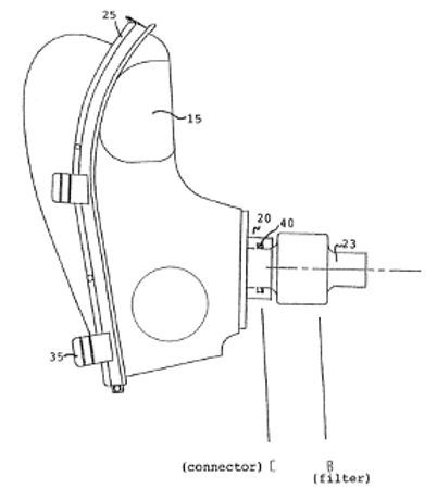 Filtering system for the protection against biological agents