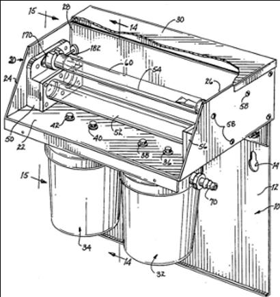 Water disinfecting apparatus