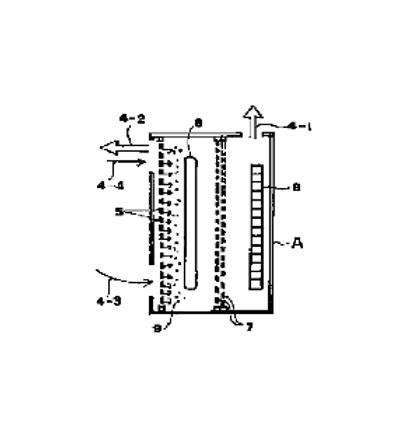 Air cleaning method and device