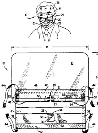 Liquid shield visor for a surgical mask with a bottom notch to reduce glare