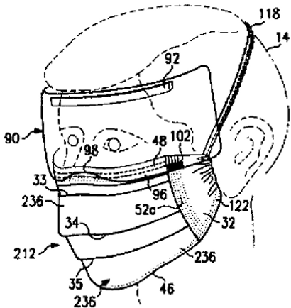 Face mask with enhanced seal and method