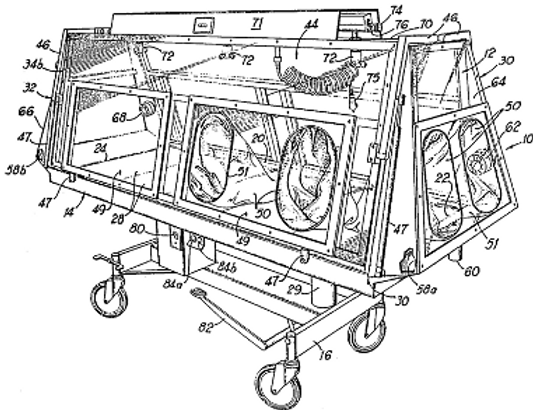 Enclosed containment apparatus for postmortem settings