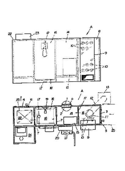 A device for removing dust adhering