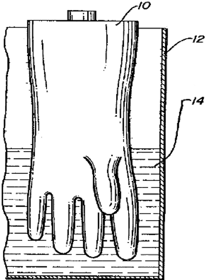 Process for making a medical glove