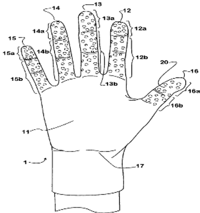 Elastomeric glove with enhanced grip strength