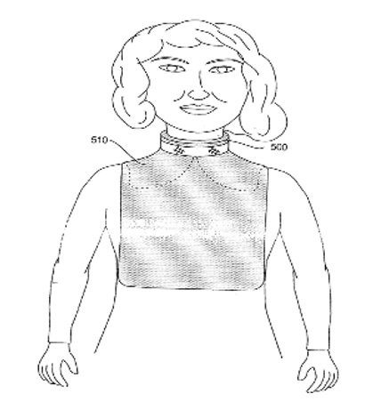Absorbent neck shield