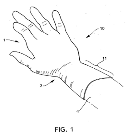 GLOVES WITH ENHANCED ANTI-CUFF-SLIP SURFACE