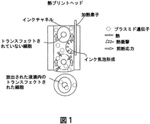 Jet gene printing method