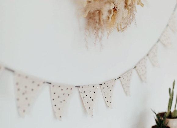 Wimpelkette aus Stoff von Eulenschnitt