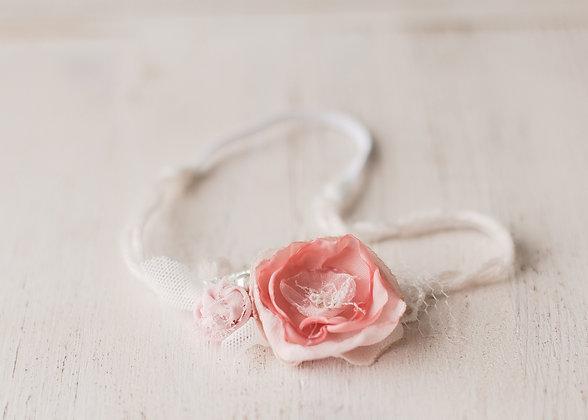 Rose headband, pink