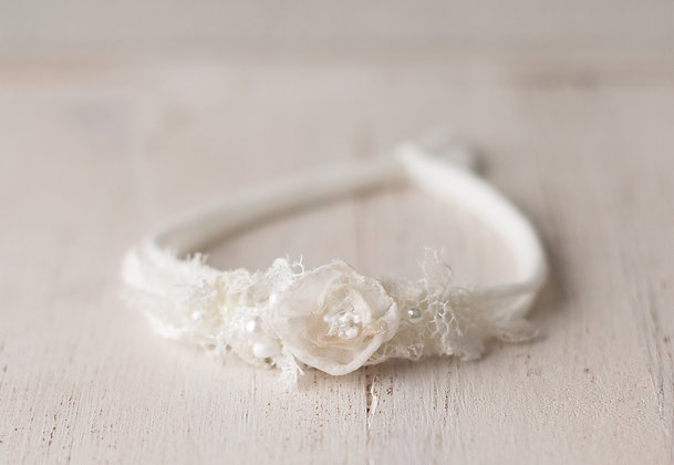Nola headband, ivory