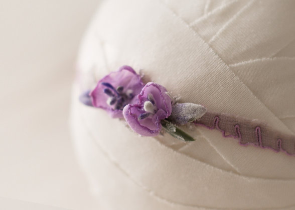 Amethyst headband, purple