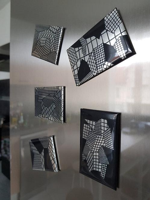 SERIE 5 Petits Magnets Argentés Ref: SPMA-1