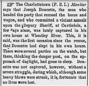 Arrest of Doucette_Morning Chronicle_8_22_1865