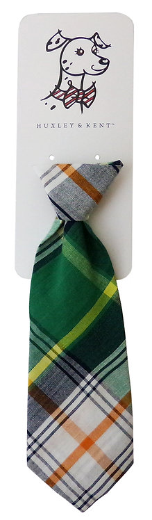 Green Madras Long Tie by Huxley & Kent