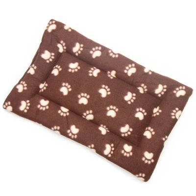 SALE!!!!    Brown Paw Printed Fleece Fabric Flat Pet Bed