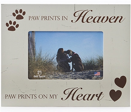 """Paw Prints in Heaven 7.5"""" x 9.5"""" Picture Frame"""