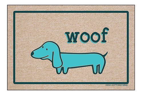 WOOF (Blue Dog) - Doormat