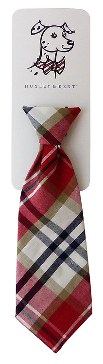 Red Madras Long Tie by Huxley & Kent