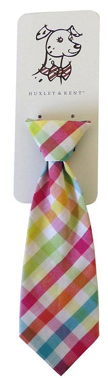 Yellow/Orange Check Long Tie