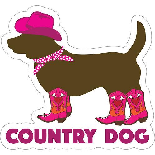 "Country Dog - 3"" Sticker"