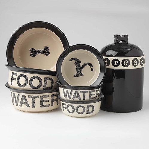 Pooch Basics Food Bowls set food/water