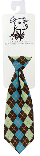 Teal Argyle Long Tie by Huxley & Kent