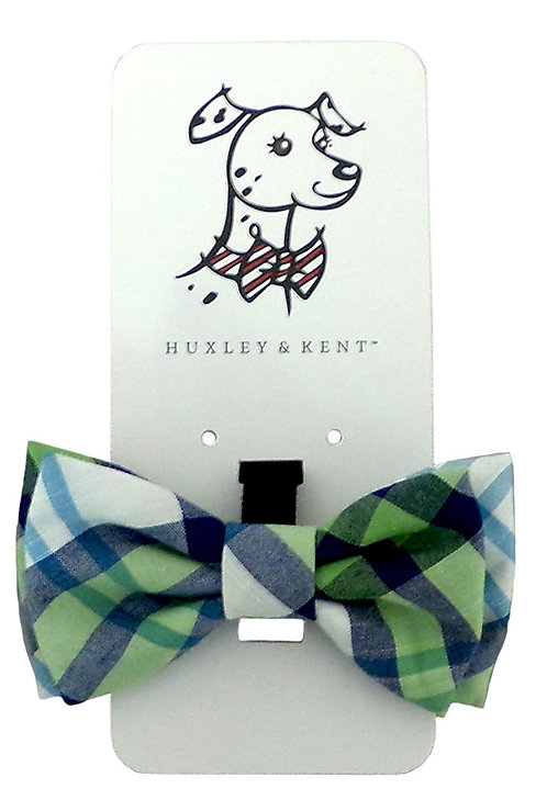 Lime Madras Bow