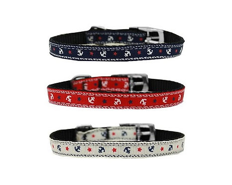 """Anchors Nylon Collar with Classic Buckle - 3/8"""""""