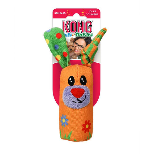 KONG® Dots & Daisies Bunny Dog Toy