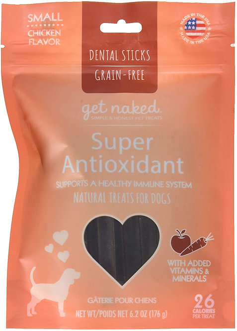 Get Naked Super Antioxidant Dental Chew Sticks For Small Dogs