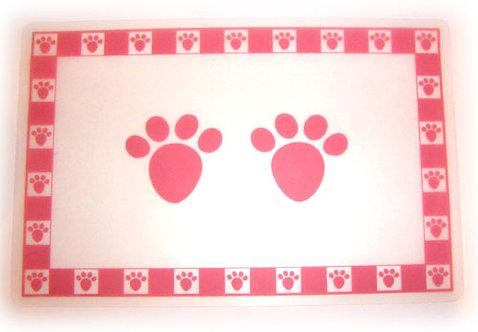 Pink Pet Paws Placemat