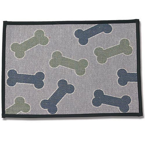 SALE!!!   Kool Bones Aqua/Gray Tapestry Placemat